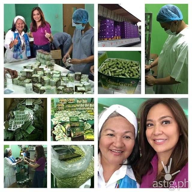 Karen Davila and Grace Gupana of ABS Bitter Herbs Ampalaya