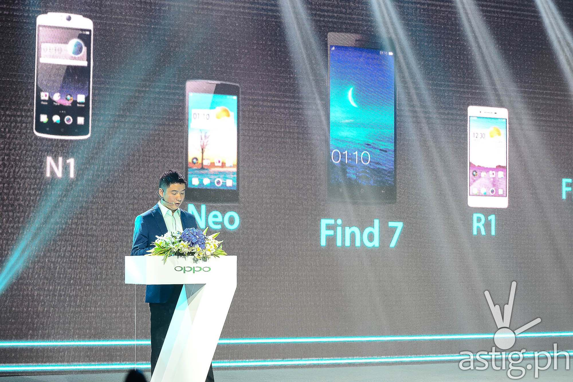 OPPO Philippines CEO James Ma a the Find 7 launch