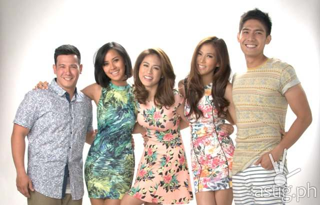 PBB ALL IN hosts John Prats, Bianca Gonzalez, Toni Gonzaga, Alex Gonzaga, and Robi Domingo