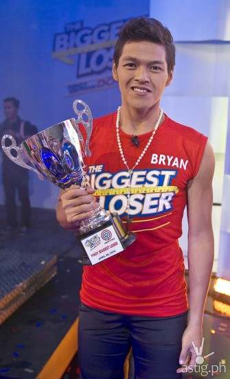 How much did Bryan lose to become Pinoy Biggest Loser grand winner?