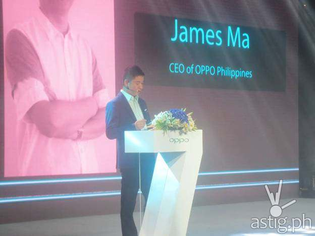 OPPO Philippines CEO James Ma presents at the Find 7 launch
