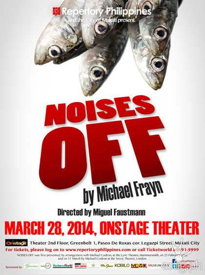 Noises Off poster by Repertory Philippines