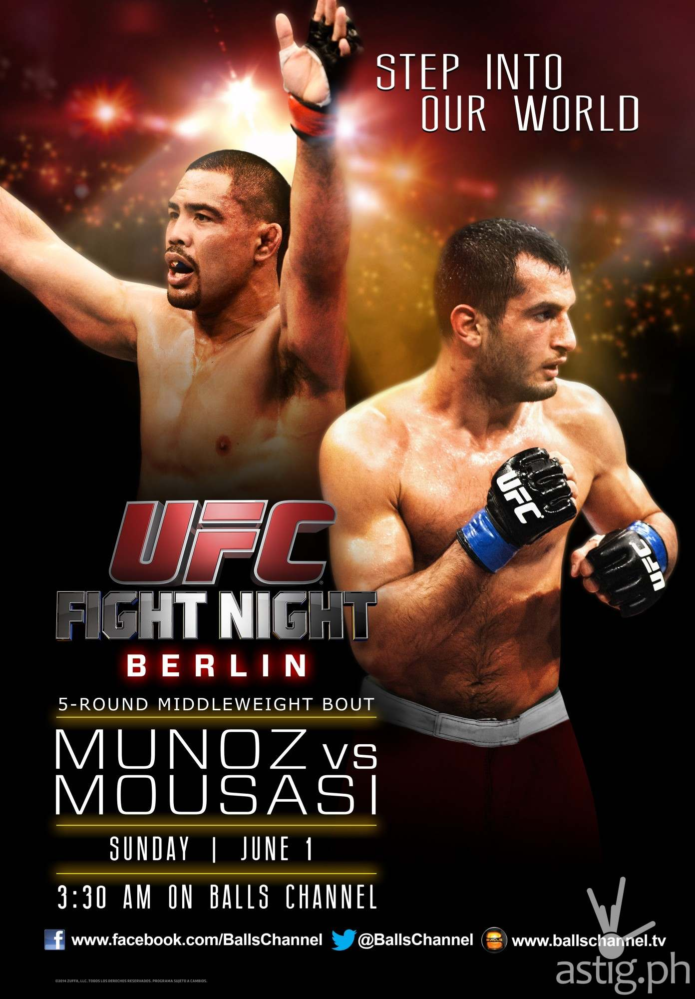 Mark Munoz vs Gerard Mousassi in UFC Fight Night