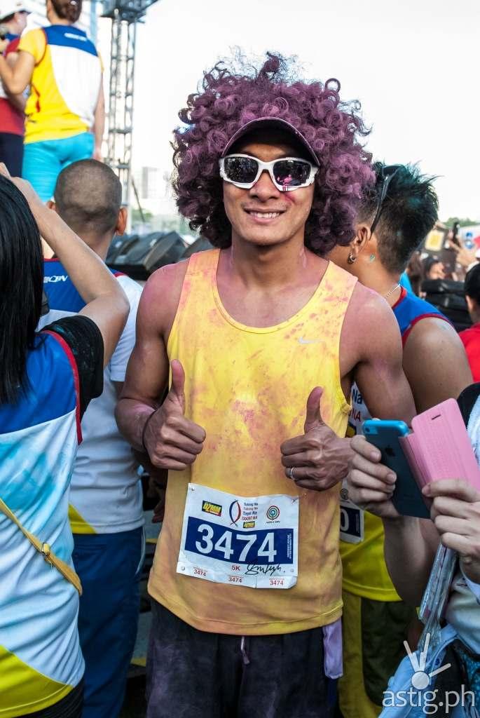 Rio dela Cruz at the DZMM Tulong Na, Tabang Na, Tayo Na, Takbo Na color fun run
