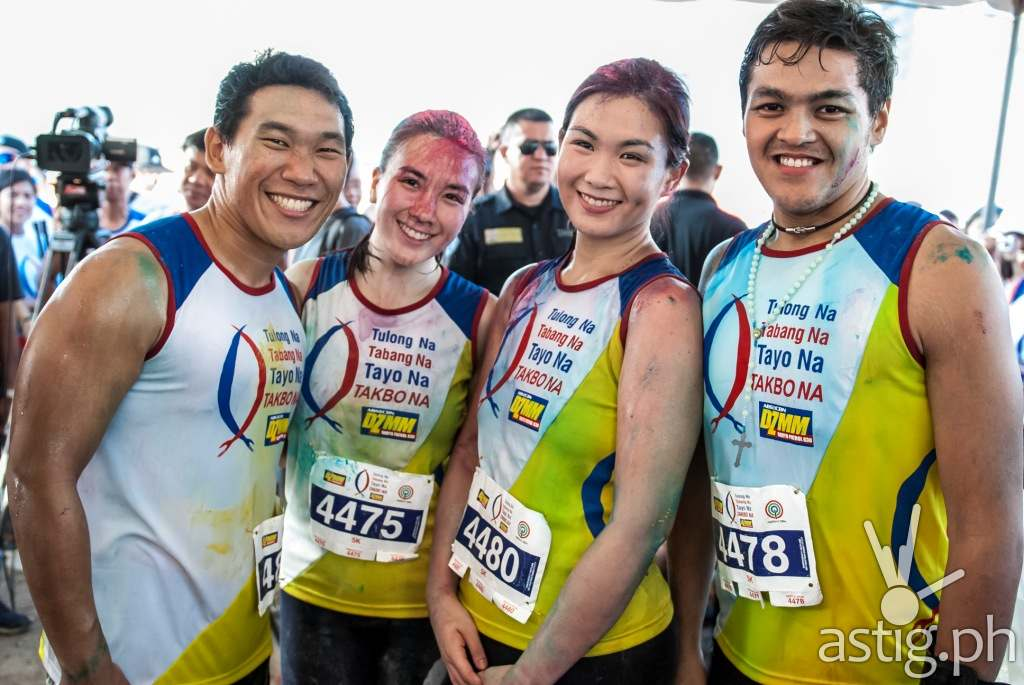 The Biggest Loser Pinoy Edition Doubles contestants Christian Du, Tin and Dianne Obsina, and grand winner Bryan Castillo