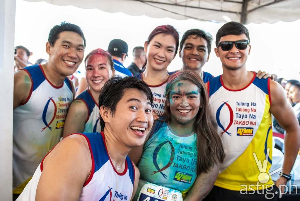 The Biggest Loser Pinoy Edition Doubles contestants Christian and Ralph Du, Tin and Dianne Obsina, Cathy Bautista, grand winner Bryan Castillo, and Matteo Guidicelli