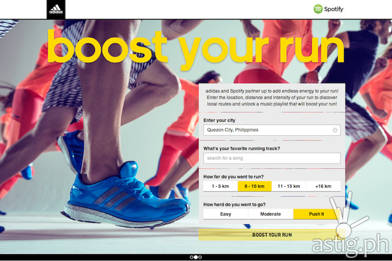 adidas Spotify Boost Your Run screenshot