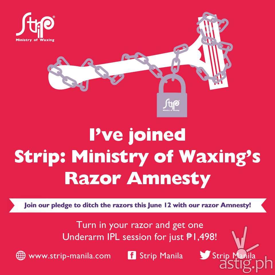 The STRIP Manila June 12 razor promotion