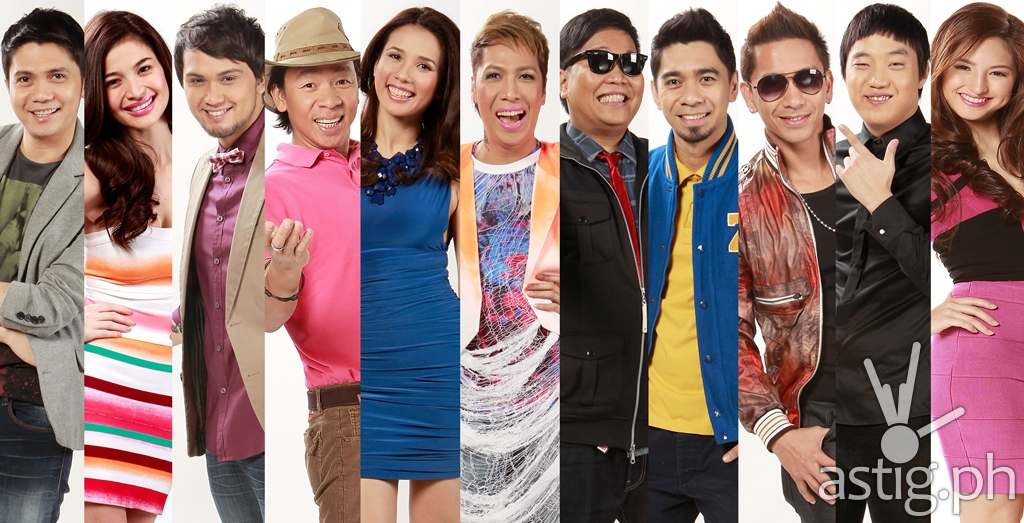 It's Showtime hosts Vhong, Anne, Billy, Kuya Kim, Karylle, Vice, Jugs, Teddy, Jhong, Ryan, Coleen