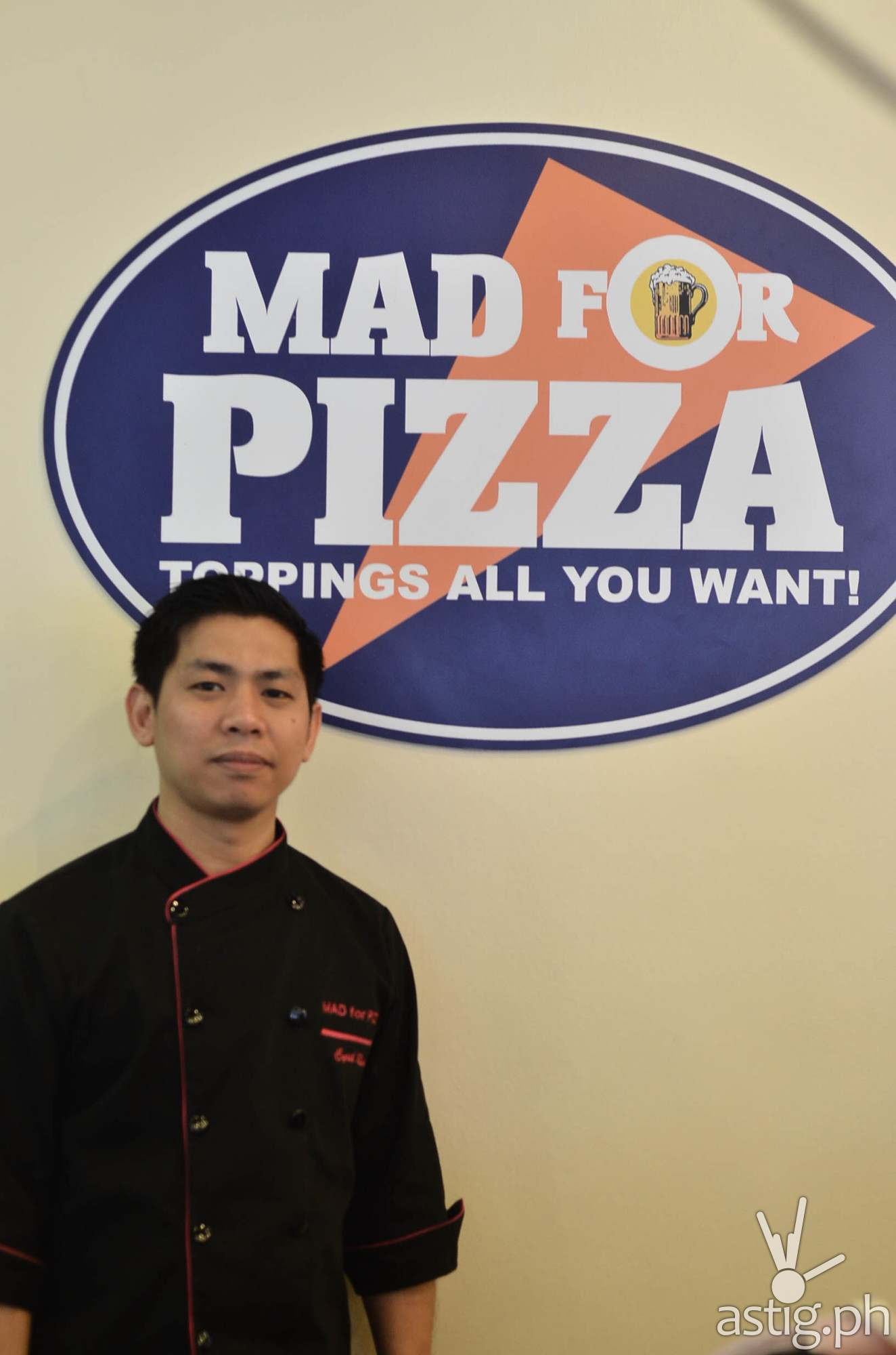 Mad for Pizza Executive Chef Cyril Reyes