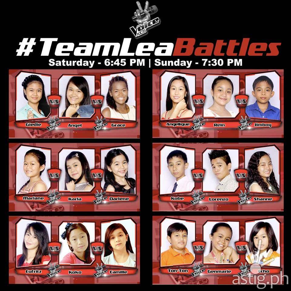 Team Lea Battles in The Voice Kids