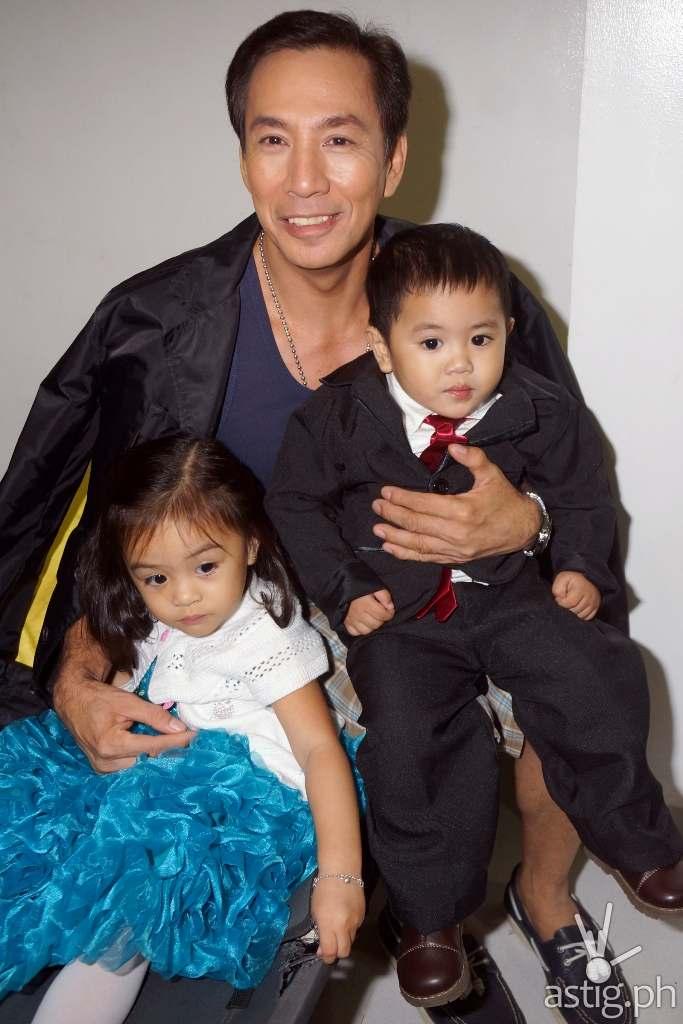 Baby Kambal, Sky and Sunshine with Lito 'Tatay Arturo' Pimentel