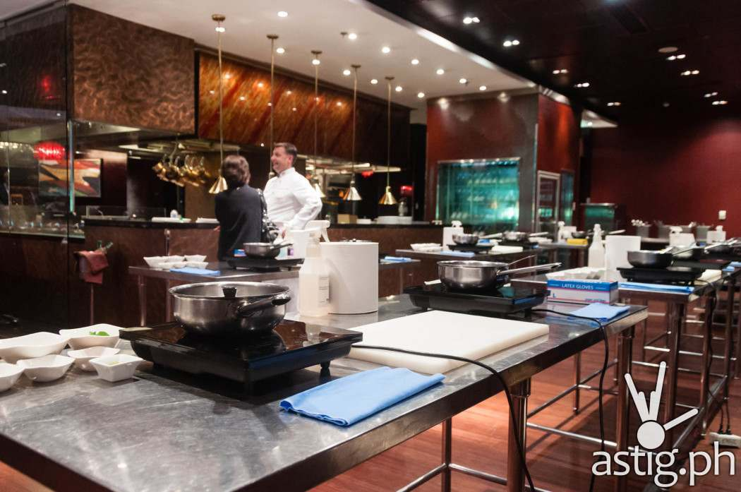 Cooking class with Chef John Havens at Cru Steakhouse, Marriott Hotel Manila