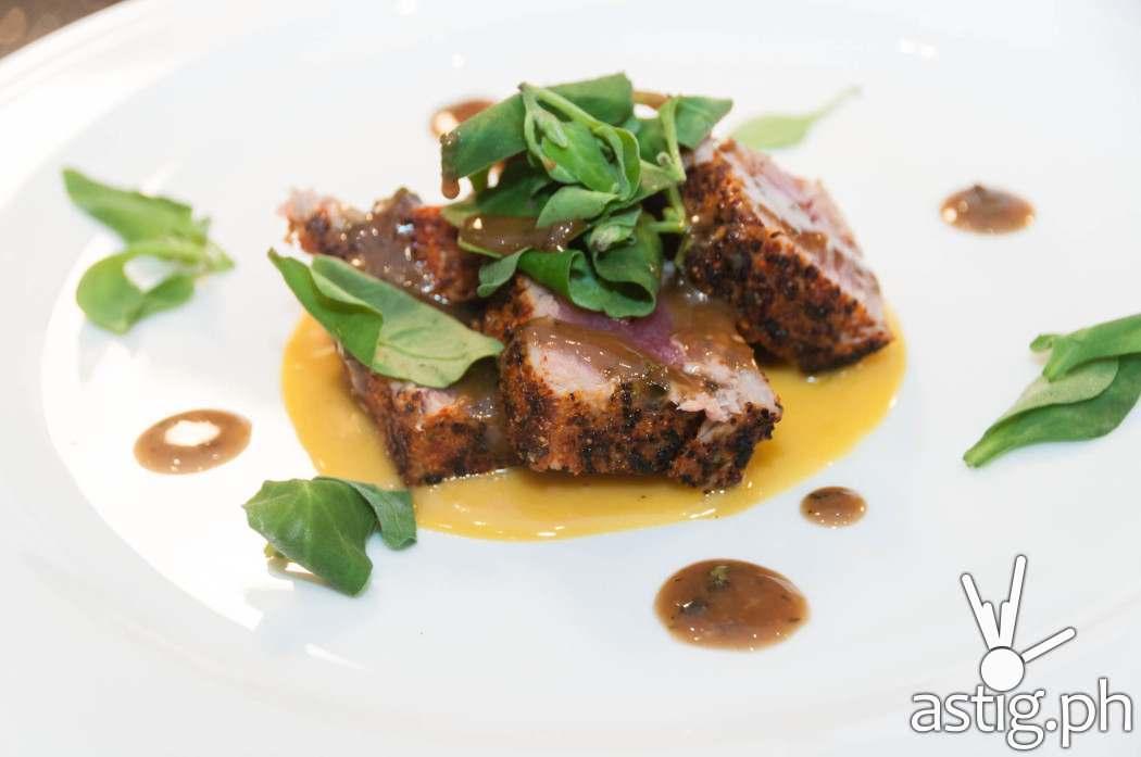 Tuna steak at Cru Steakhouse