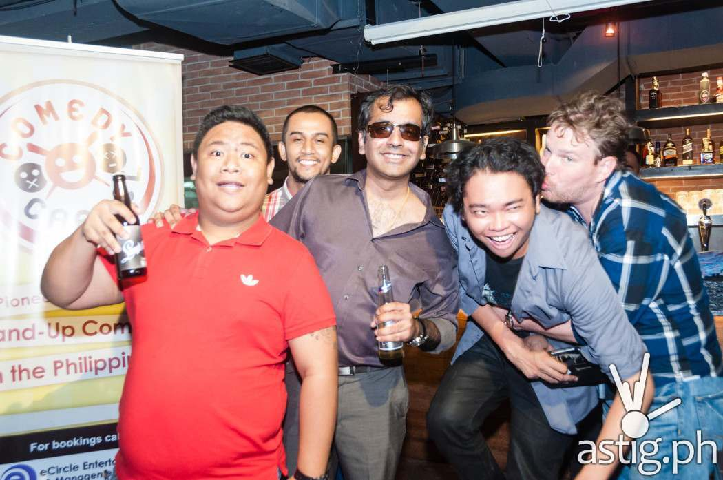 Nonong Dyamante, Miguel Alejandrino, Haresh Dashwani, Rene Cruz, and Justin Harmon at Comedy Cartel