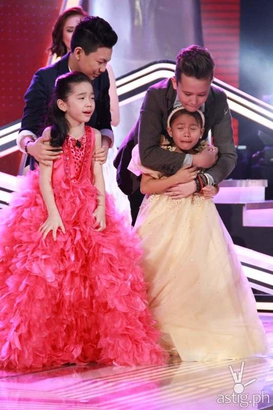 Darlene, Darren, Juan Karlos, and The Voice Kids grand champion Lyca