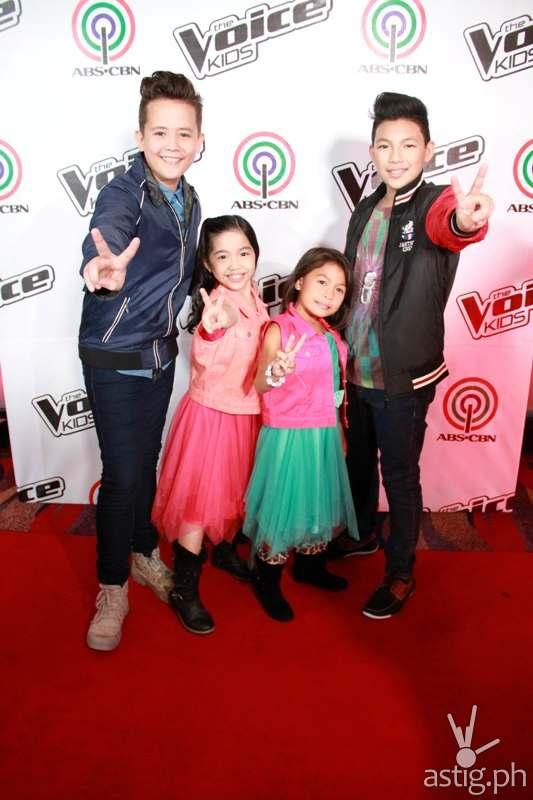 Final 4 young artists Juan Karlos, Darlene, Lyca, and Darren