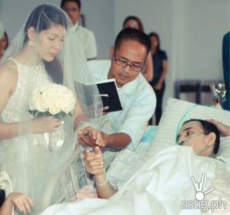 Story behind viral video of dying man's wedding re-told on TV