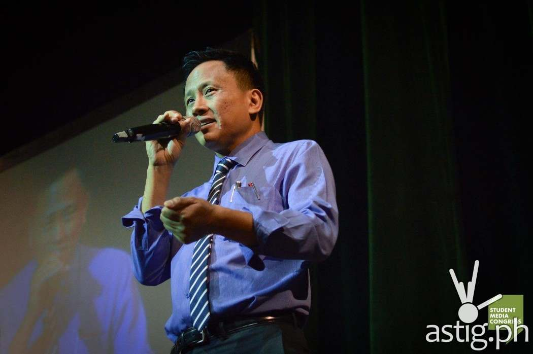 Howie Severino at the Student Media Congress 2014