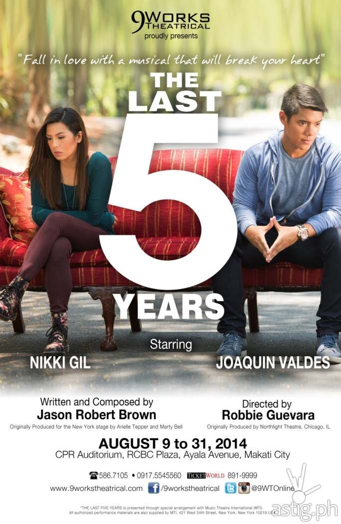 Last 5 Years by 9Works Theatrical poster