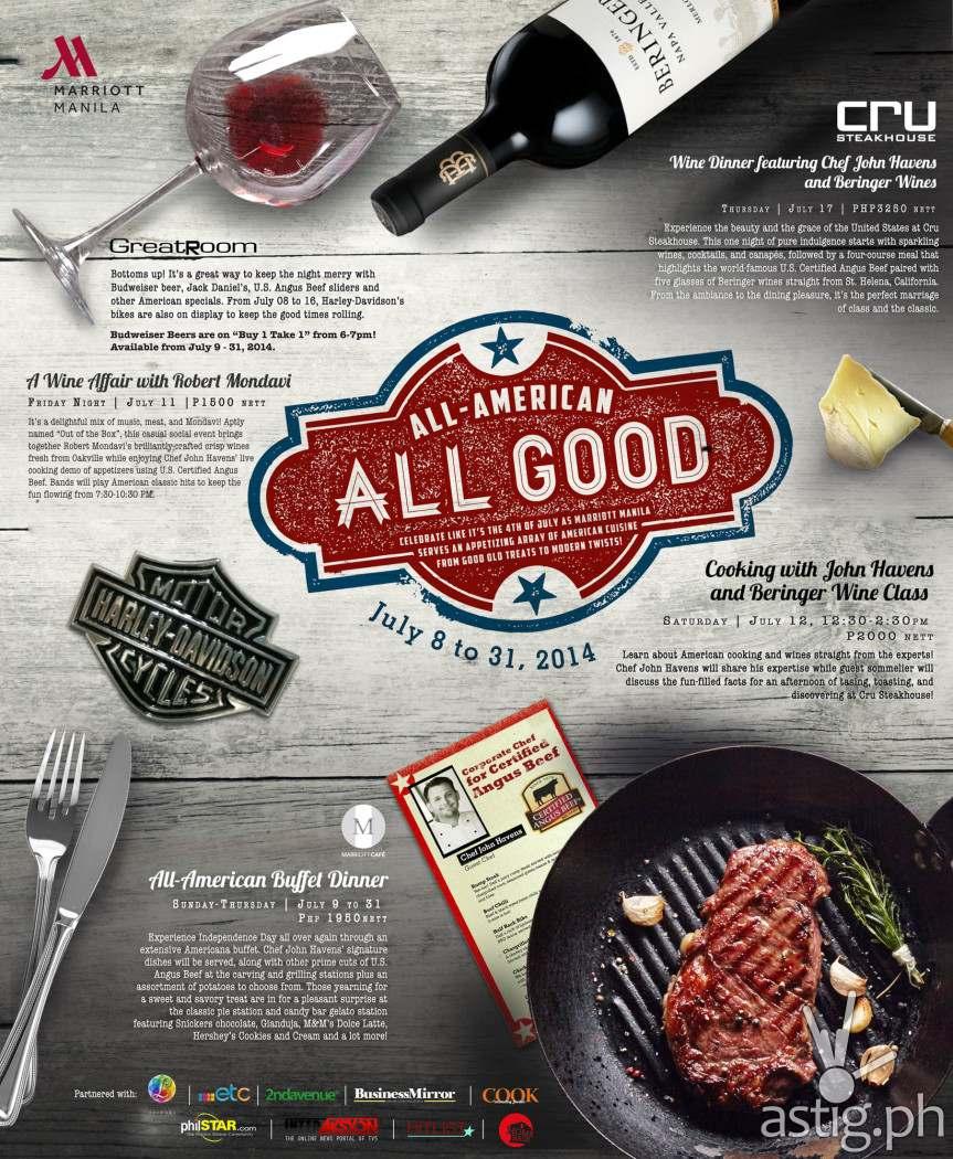 Marriott Hotel Manila All-American All Good Poster