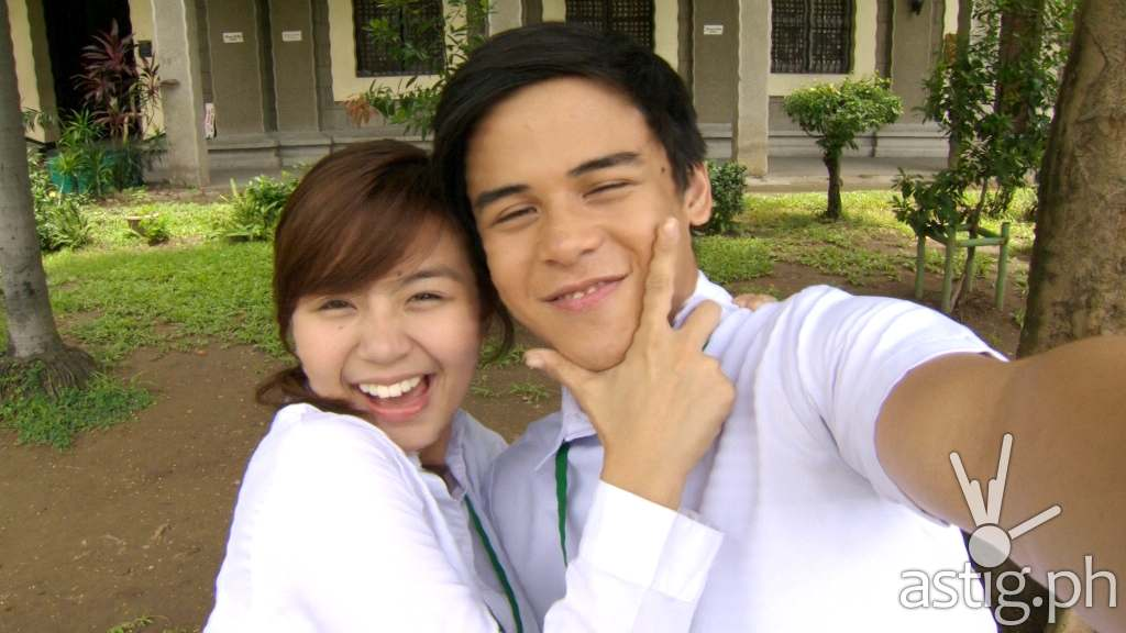Miles Ocampo and Khalil Ramos