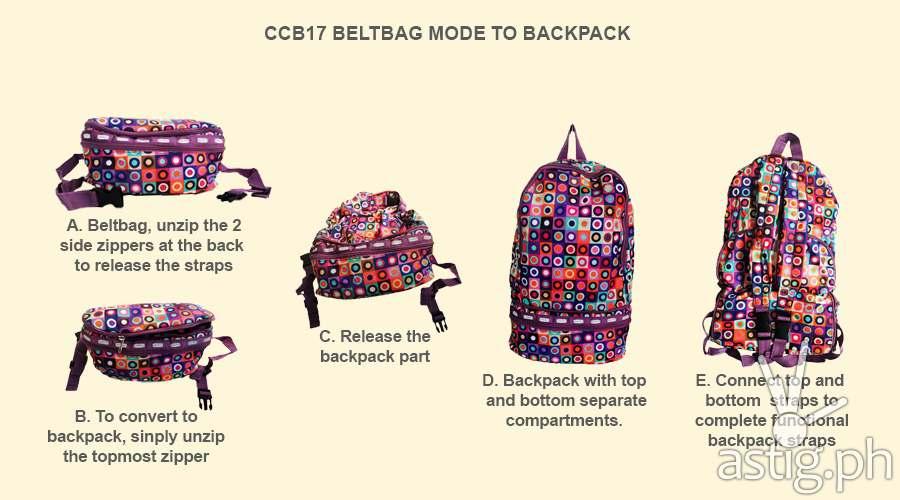 Parachute Bags: how to convert a convert belt bag into a backpack