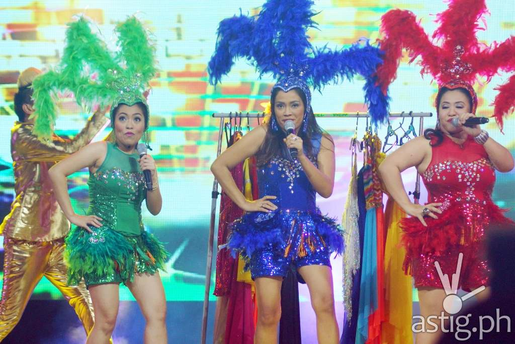 'Sir Chief's Angels' Yaya Lea, Doris and Sabel had a spot number during I HEART YOU 2