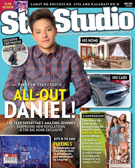 StarStudio July 2014 features Daniel Padilla