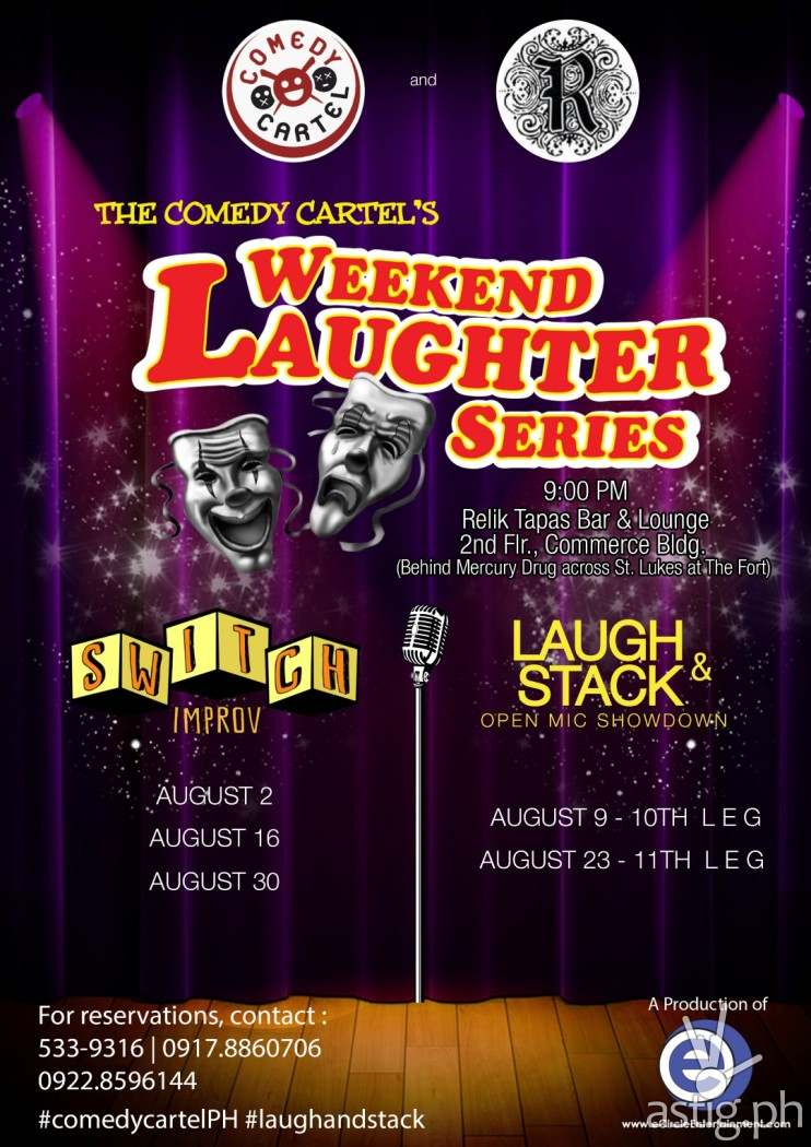 Comedy Cartel Weekend Laughter Series August 2014 poster