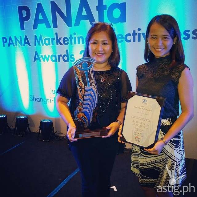 ABS-CBN Integrated Marketing's Zita Aragon and Micaha Rivera at the PANAta Awards
