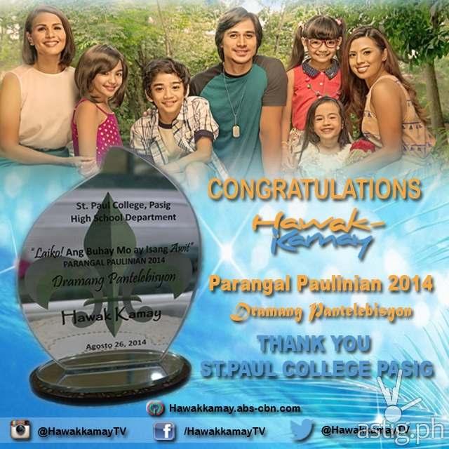 Hawak Kamay wins Dramang Pantelebisyon award at the Parangal Paulinian 2014