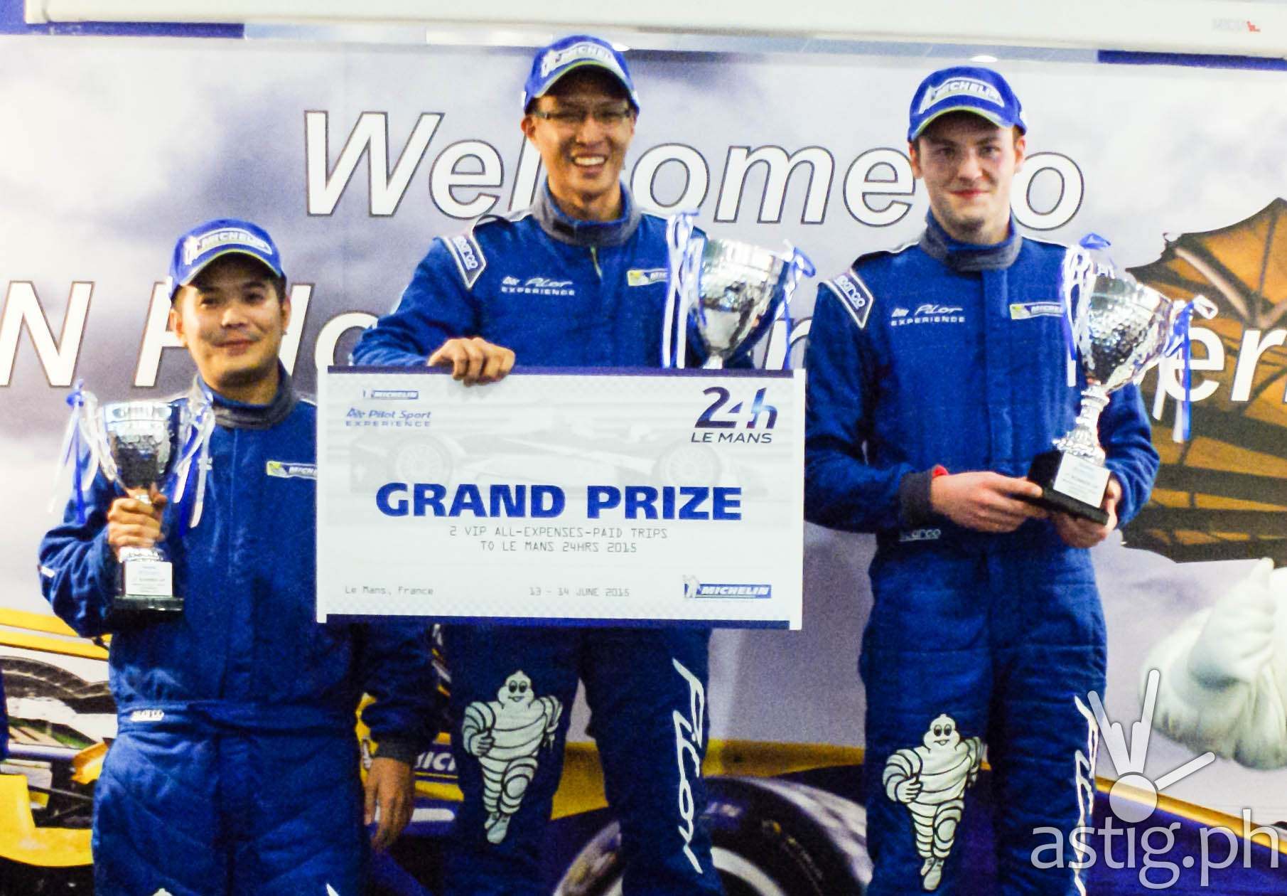 Ivan Isada, Mitchell Lukasz, Willy Vaniliy Teo winners of MICHELIN Pilot Sport Experience