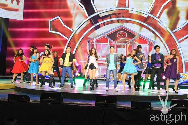 Kim Chiu, Melai Cantiveros, Jason Francisco, Alex Gonzaga, Joseph Marco, Matt Evans, with PBB All In ex housemates