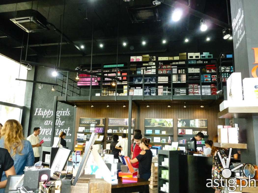 The inside of the store is really cool, chic, and spacious