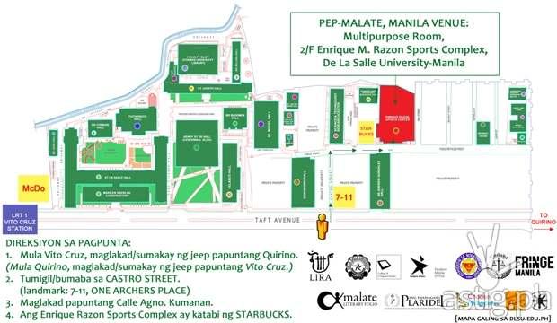 PEP Malate, Manila venue map