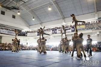 National University celebrates UAAP Cheerdance championship by donating to Yolanda survivors