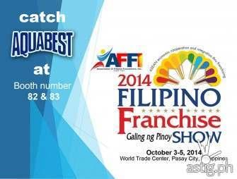 Aquabest joins 2014 Filipino Franchise Show