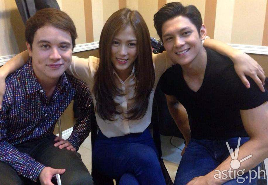Alex Gonzaga with Arjo Atayde and Joseph Marco