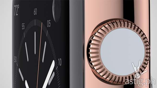 Apple Watch digital crown bronze