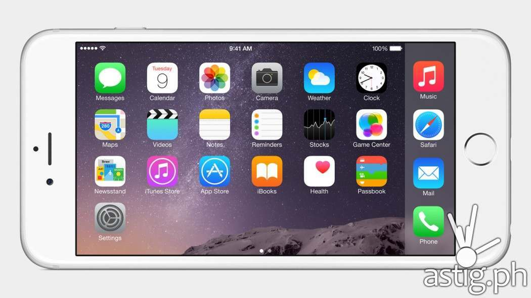 Apple iPhone 6 landscape home