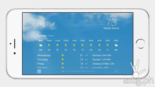 Apple iPhone 6 landscape weather