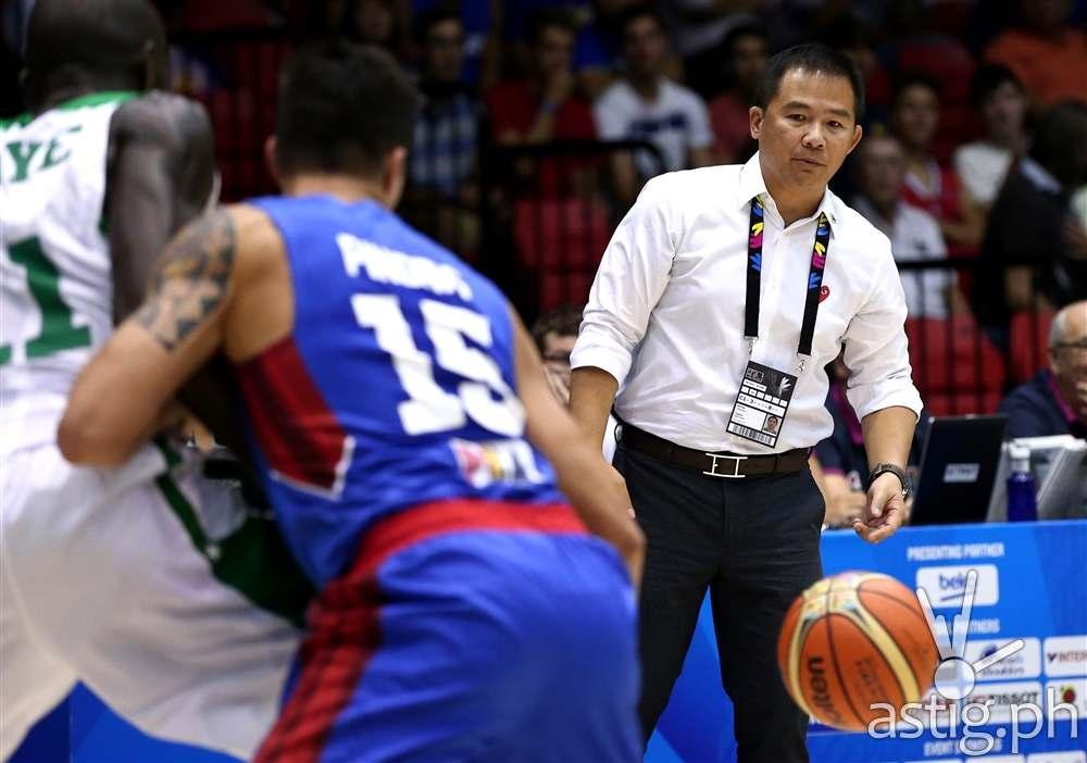 "Gilas Pilipinas head coach Vincent ""Chot"" Reyes Philippines vs Senegal 2014 FIBA Basketball World Cup (FIBA.COM)"