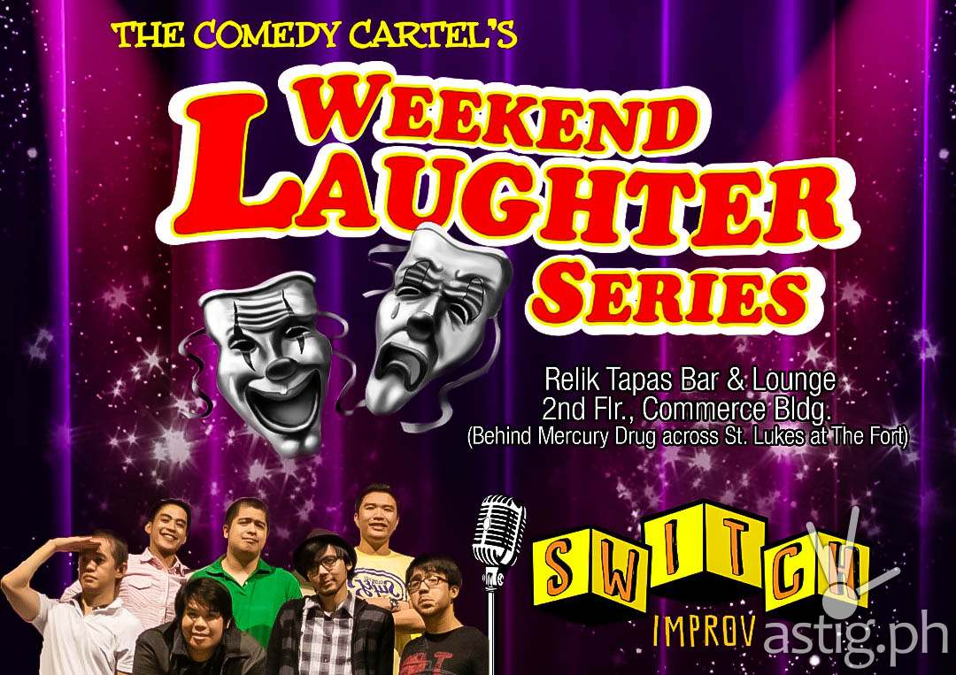 Comedy Cartel Weekend Laughter Series Relik Tapas Bar & Lounge