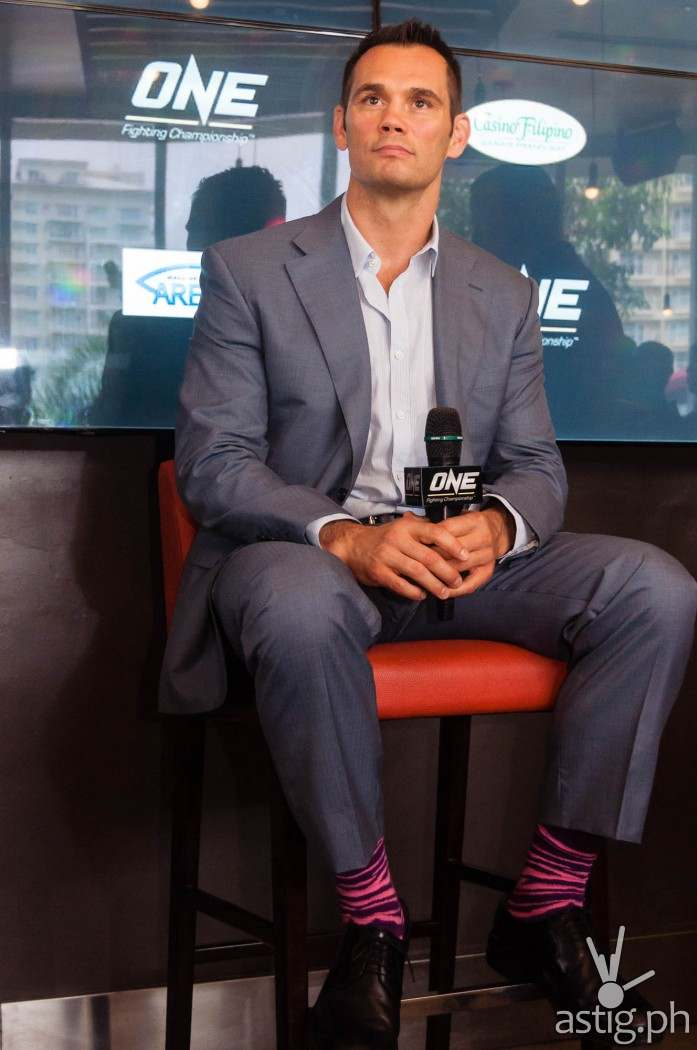 Rich Franklin at the ONE FC press conference held in Manila, Philippines