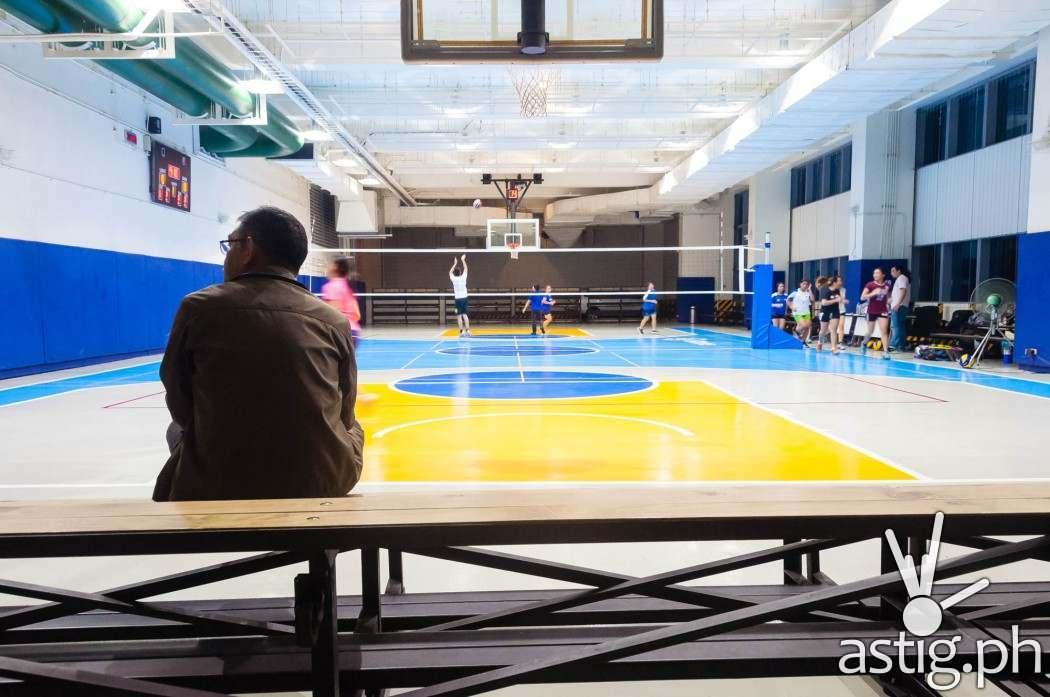 Globe Tower even indoor basketball court