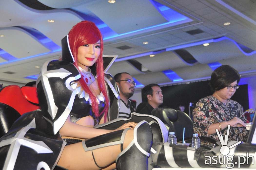 Myrtle Sarrosa sits at the judges table of Best Of Anime 2014