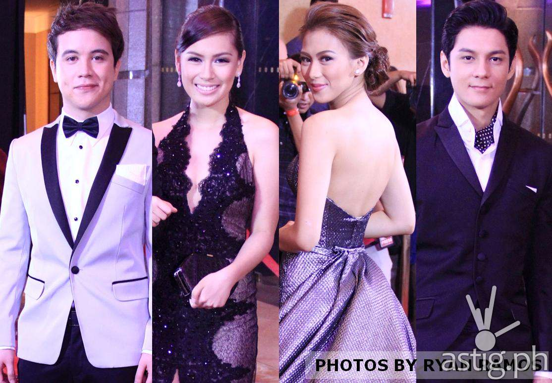 Diane, Ysabel, Dave at Raymond, rumampa sa 8th Star Magic Ball__Arjo Atayde, Yen Santos, Alex Gonzaga and Joseph Marco