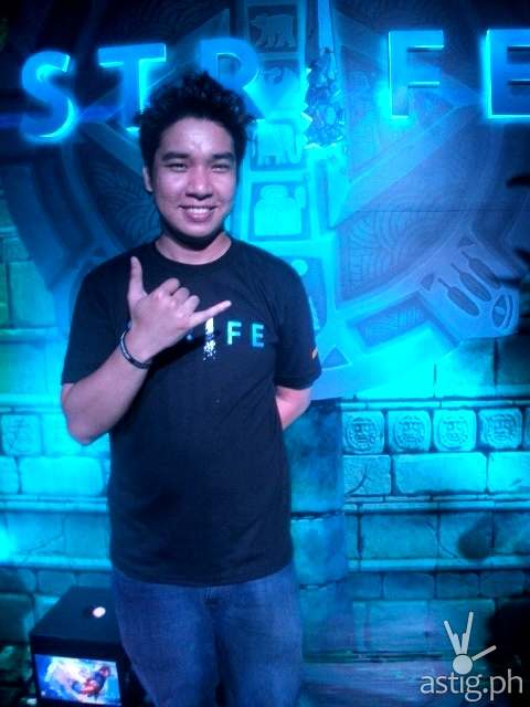 Gian Adriano, Strife product manager Level Up! Games