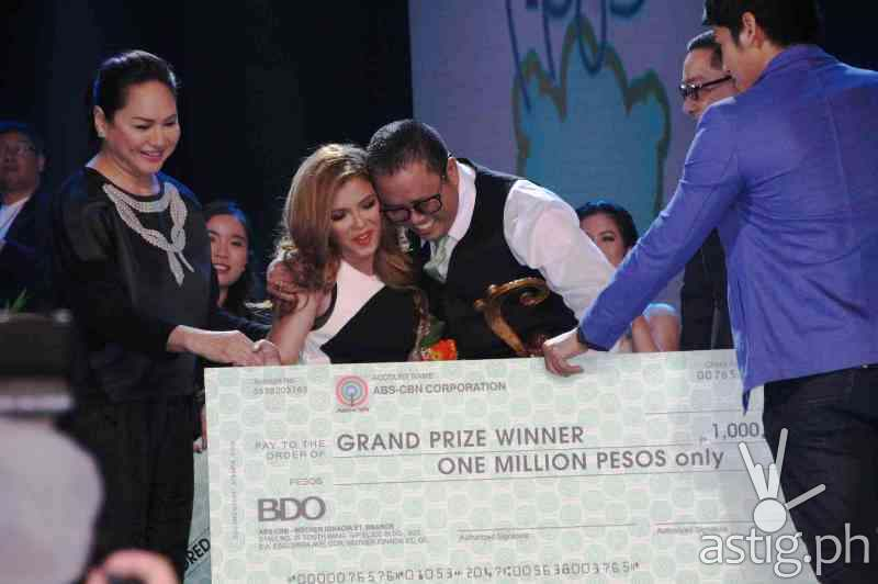 GRAND PRIZE WINNER: 'Mahal Ko o Mahal Ako' composed by Edwin Marollano and interpreted by KZ Tandingan emerged grand prize winner at the 'Himig Handog Pinoy Pop Love Songs 2014'